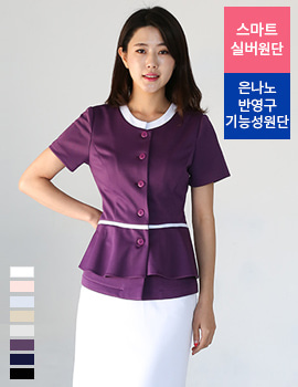 N0085 uniform/office wear top